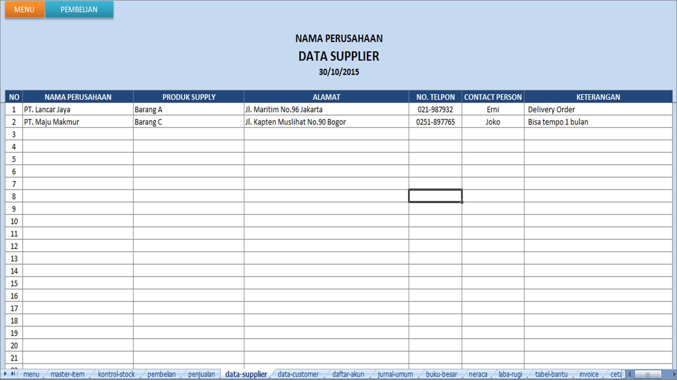 Aplikasi Penjualan Excel Keuangan Paling Murah Sedunia
